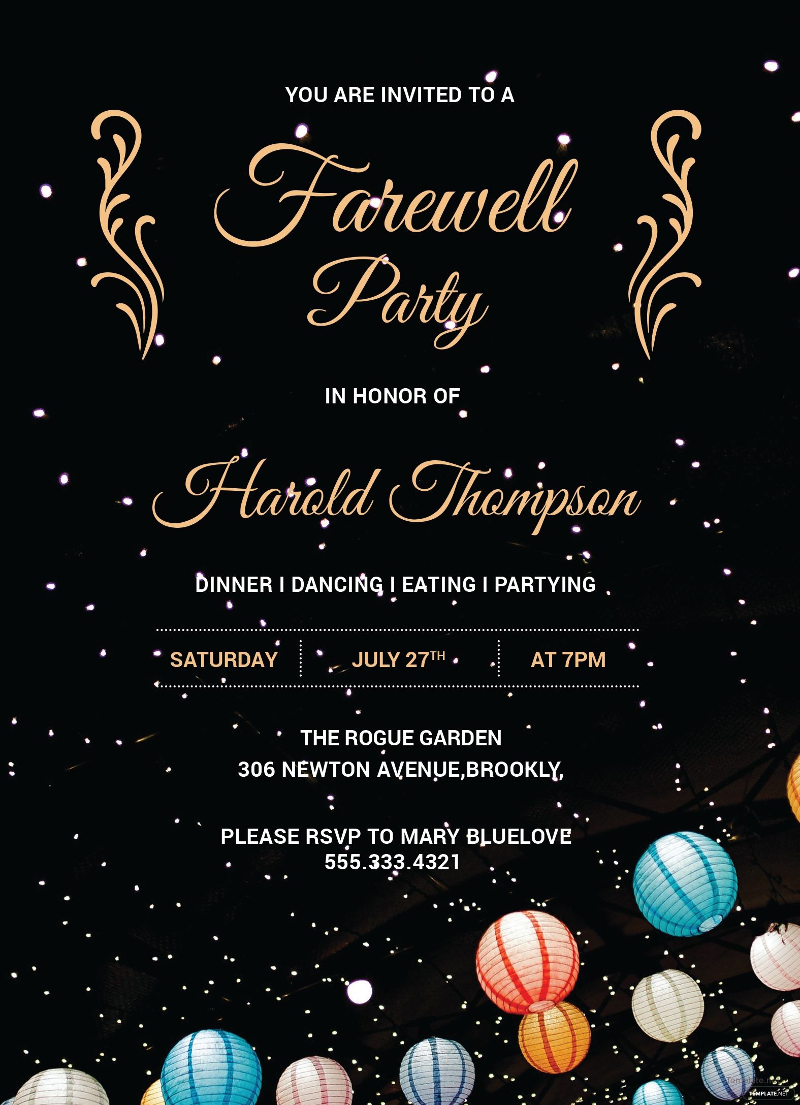 Free Farewell Party Invitation Template in Adobe Photoshop