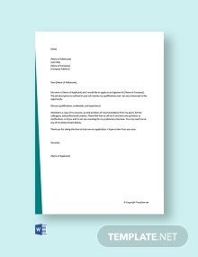 Free Engineering Cover Letter