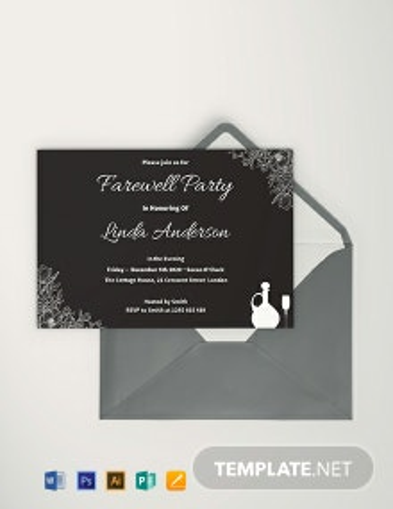Free Chalkboard Farewell Invitation Template
