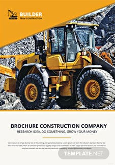 Construction Equipment Brochure Template