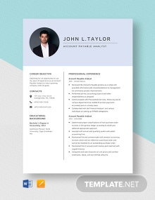 Account Payable Analyst Resume Template