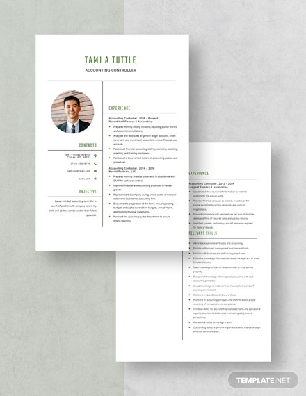 Accounting Controller Resume Download