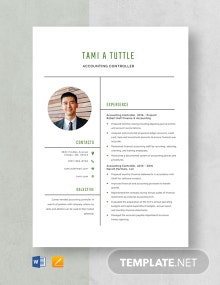 Accounting Controller Resume Template