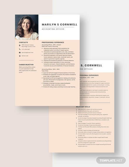 Accounting Officer Resume Download