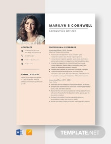 Accounting Officer Resume Template