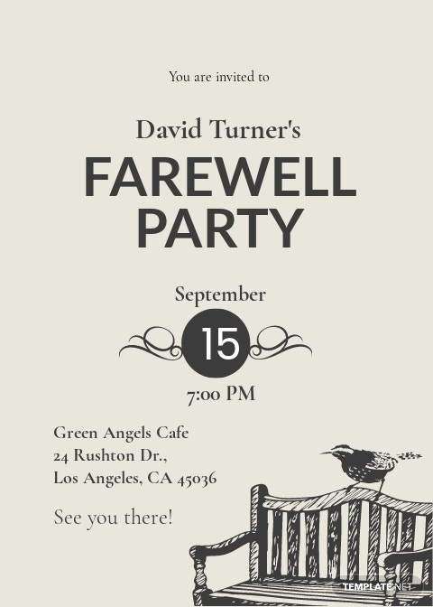 Vintage Farewell Party Invitation Template