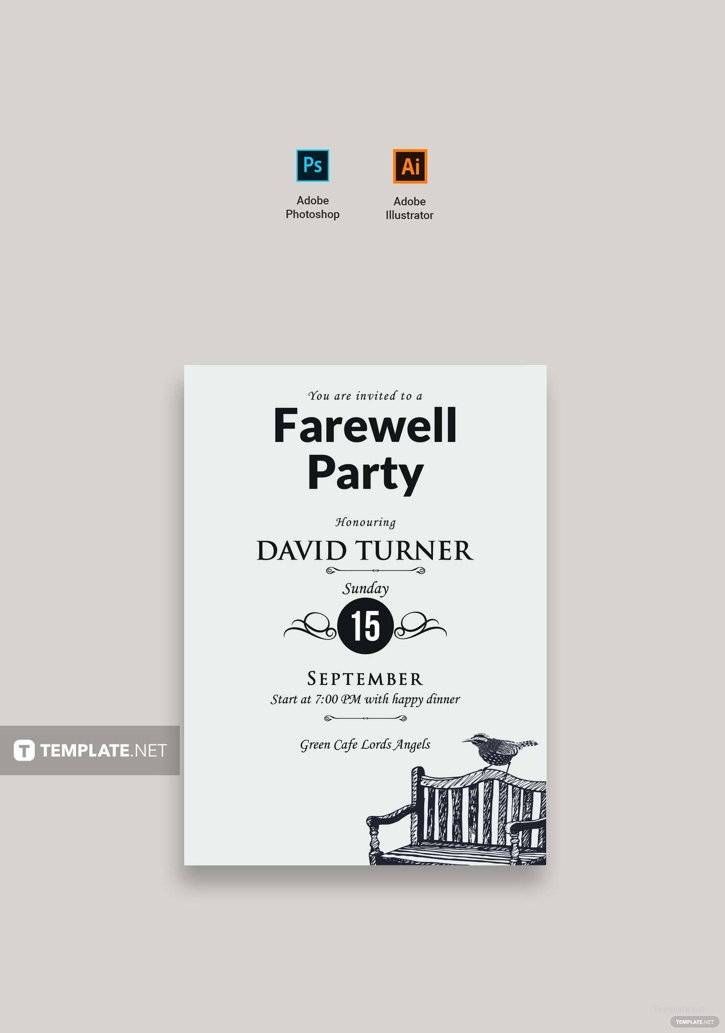 leaving party invitation template