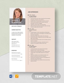 Air Flight Attendant Resume Template