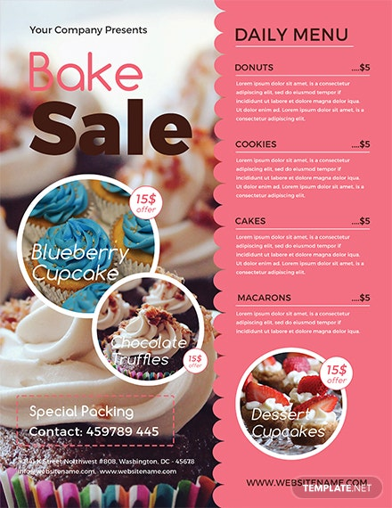 free bake sale flyer template download 416 flyers in psd