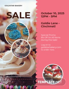 Free Bake Sale Flyer Template