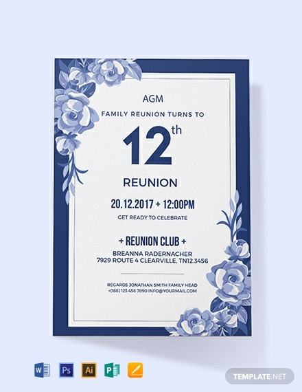 Free Family Reunion Invitation Template