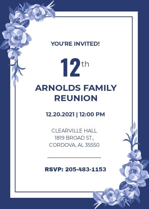 Free Family Reunion Invitation Template