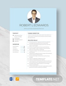 Application Administrator Resume Template