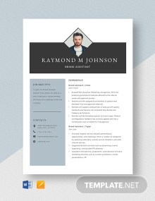 Brand Assistant Resume Template