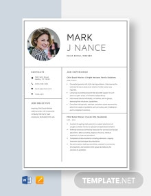 Child Social Worker Resume Template