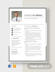 Collections Coordinator Resume Template