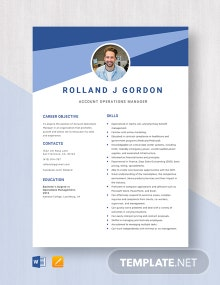 Account Operations Manager Resume Template