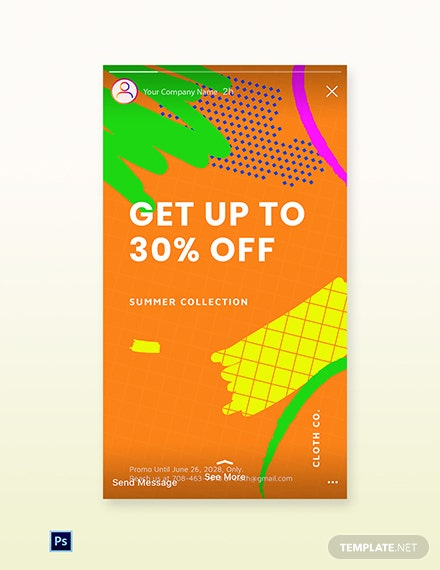 Free Modern Holiday Sale Instagram Story Template