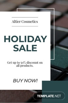 Free Modern Holiday Sale Tumblr Post Template
