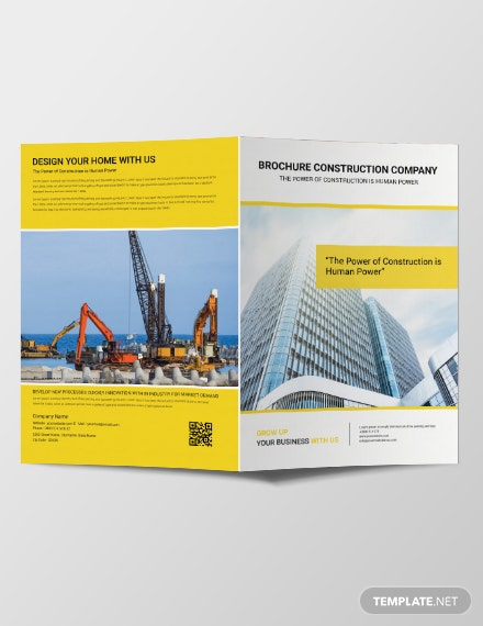 Free Construction Brochure Template