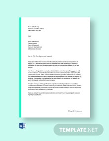 Free Cover Letter Transition to New Career
