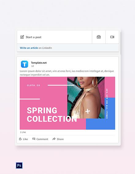 Free Holiday Spring Offer Sale LinkedIn Blog Post Template