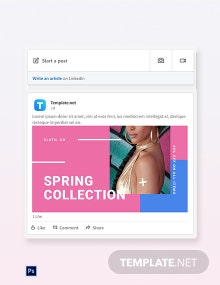 Free Holiday Spring Offer Sale LinkedIn Blog Post Template