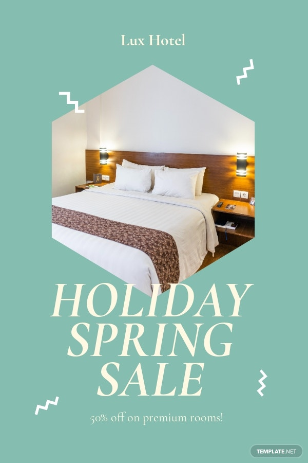 Free Holiday Spring Offer Sale Pinterest Pin Template