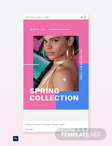 Free Holiday Spring Offer Sale Tumblr Post Template
