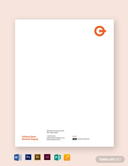 electrical letterhead