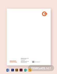 Electrical letterhead Template