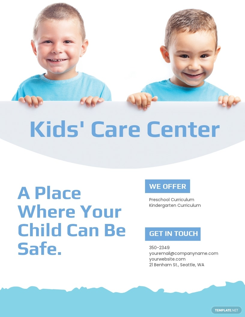 Kid's Care Center Flyer Template