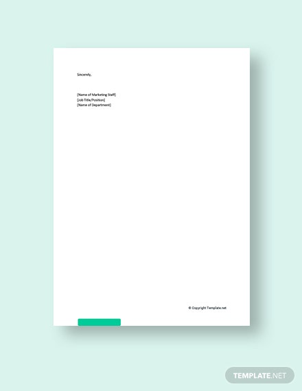 New Business Promotion Letter Template