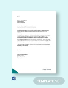 Free Notice of Retirement Letter to Employee