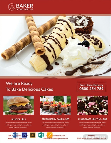 Free Bakery Flyer Template