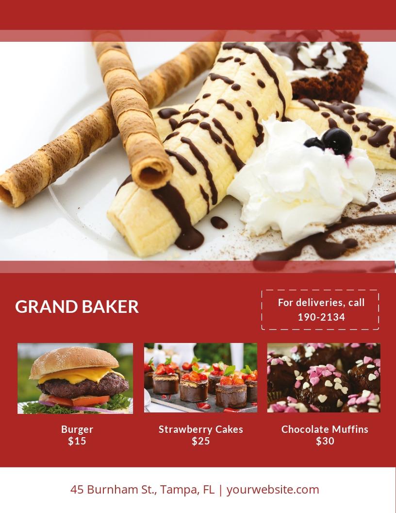 Bakery Flyer Template