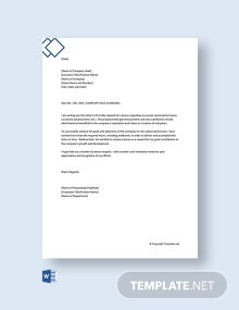 Free Request Letter to Company for Bonus