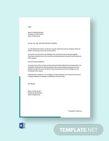 Free Retirement Letter to Employee From Employer
