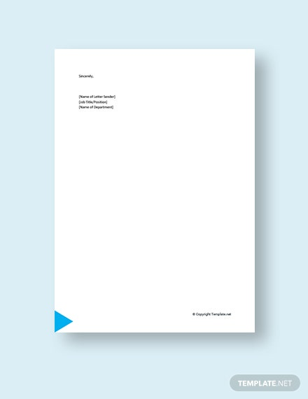Small Business Promotion Letter Template