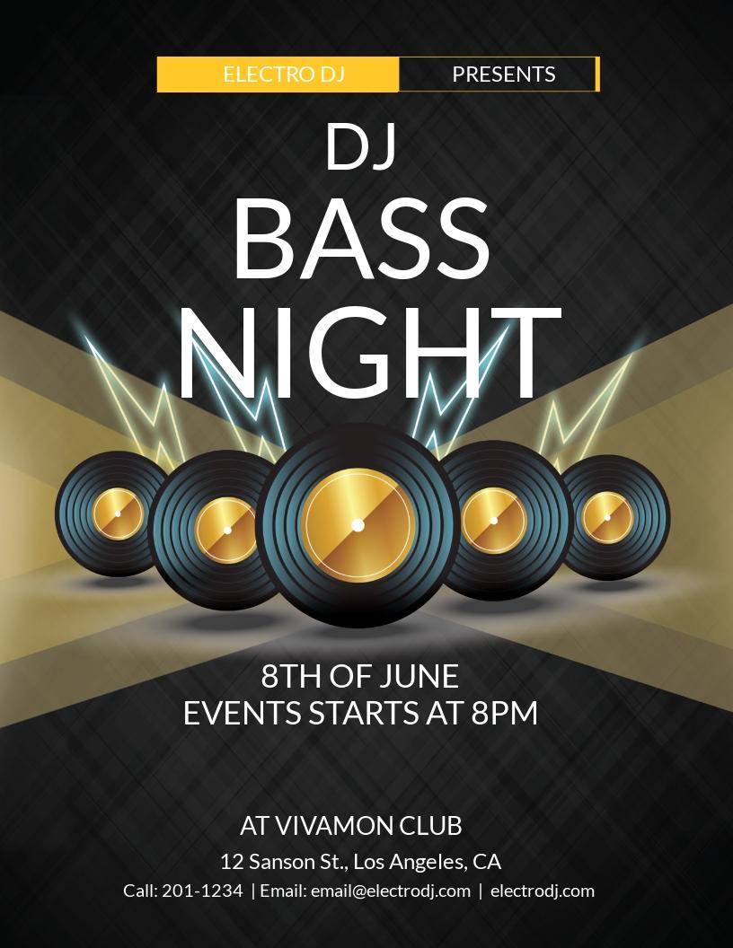 Bass Night Flyer Template