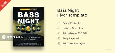 Free Bass Night Flyer Template