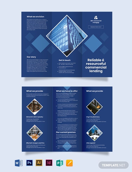 Commercial Mortgage broker Tri-fold Brochure Template