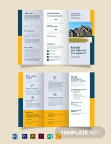 Property Management Marketing Tri-fold-Brochure Template