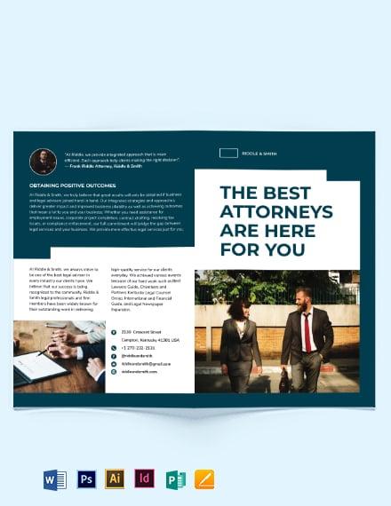 Attorney Bi-Fold Brochure Template