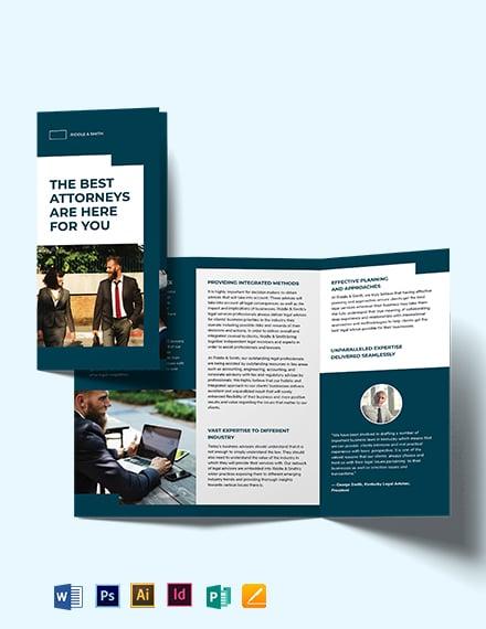 Attorney Tri-Fold Brochure Template