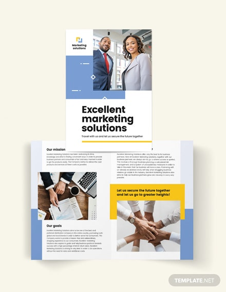 business proposal bi fold brochure