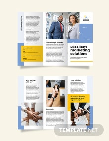 Business Proposal Tri-Fold Brochure Template