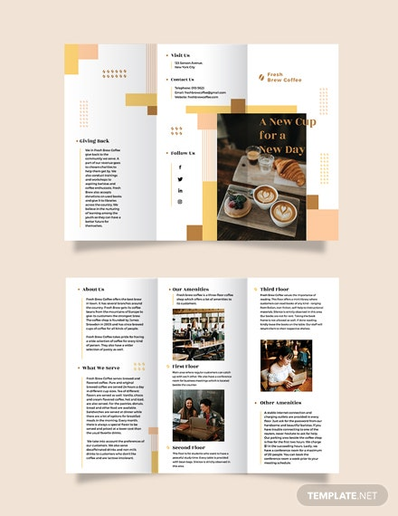 Coffee Shop Tri-Fold Brochure Template