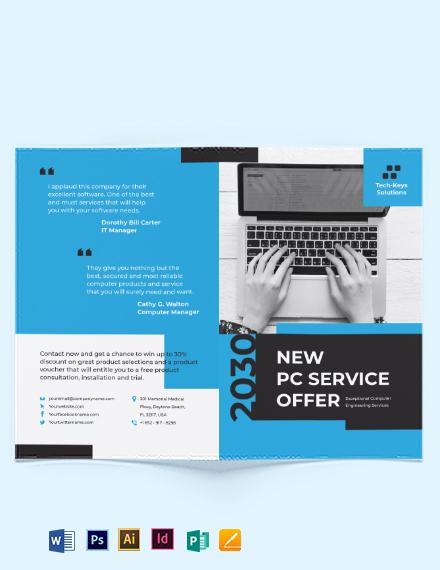 Computer Engineering Bi-Fold Brochure Template