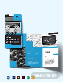 Computer Engineering Tri-Fold Brochure Template